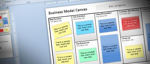 Free business model canvas template for powerpoint 2010 wajeb Image collections