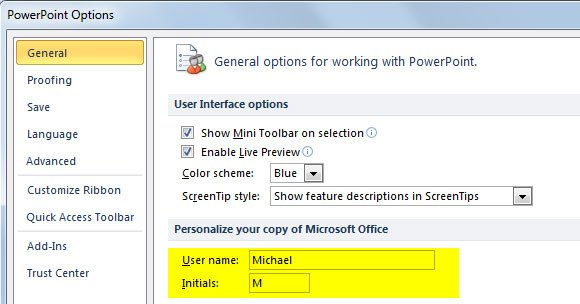Personalize your copy of Microsoft Office