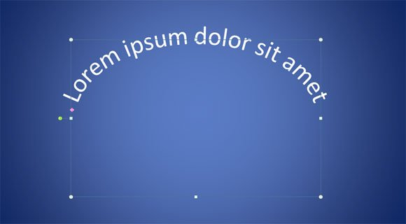circular text powerpoint 2010