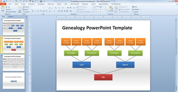 How to make a genealogy powerpoint presentation using shapes toneelgroepblik Image collections