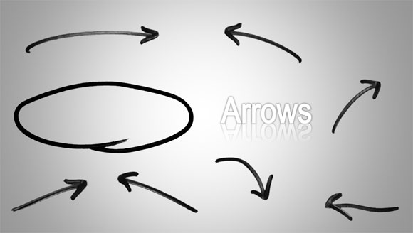 Hand drawn arrows for powerpoint presentations arrow template hand drawn toneelgroepblik Gallery
