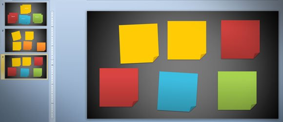how to create 3m post it images using powerpoint 2010 and shapes