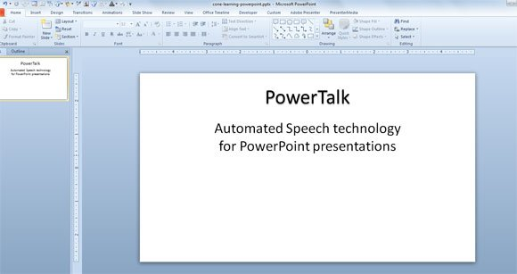 powerpoint powertalk addin