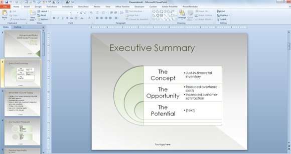 Sales proposal powerpoint template for Rfp presentation template
