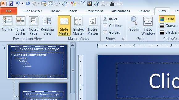 Using slide master view in powerpoint 2010 slide master in powerpoint toneelgroepblik Choice Image