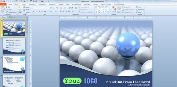Presenter media download awesome 3d powerpoint templates and 3d 3d powerpoint template balls toneelgroepblik Image collections