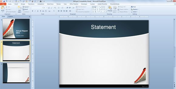 how to make an annual report using powerpoint templates, Presentation templates