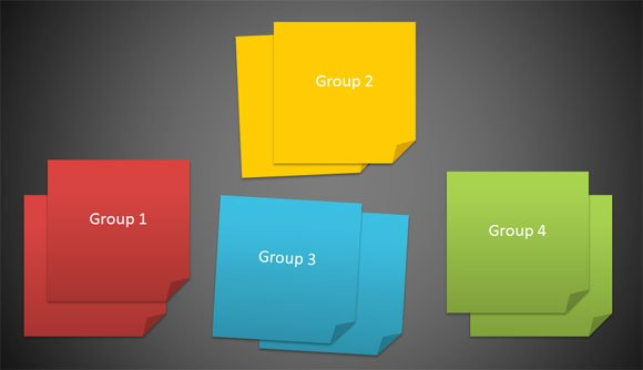 To Create M Post It Images Using Powerpoint  And Shapes