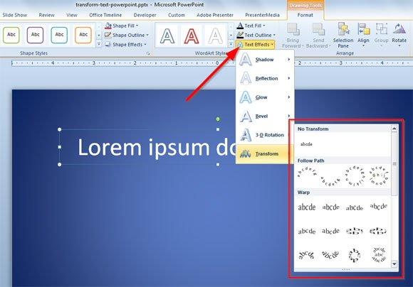 transform text powerpoint