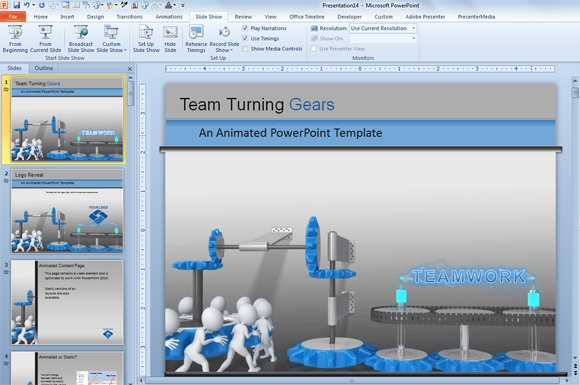 animated cogs in powerpoint 2010 and 2013