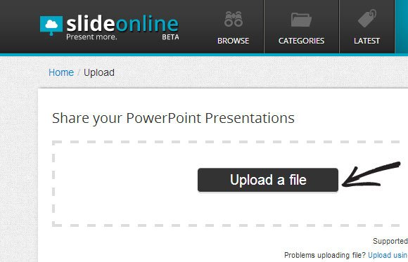 upload and share presentations online with slideonline com