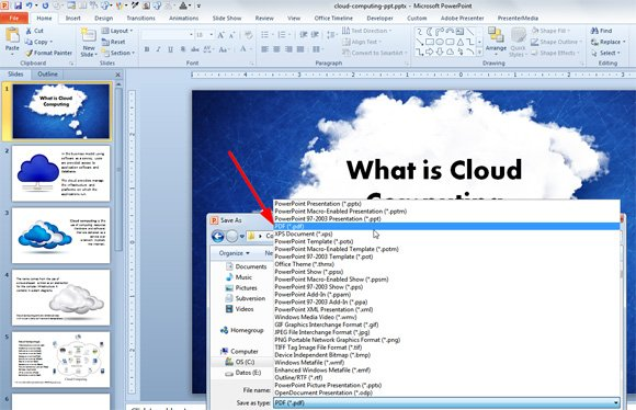 How to save a powerpoint ppt file as a pdf file toneelgroepblik Choice Image