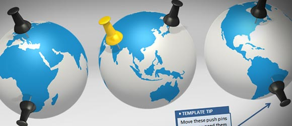 Make awesome global presentations with global powerpoint template animated globe illustration toneelgroepblik