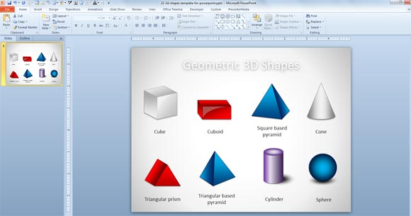 Free 3d geometric shapes template for powerpoint presentations 3d powerpoint shapes toneelgroepblik Image collections