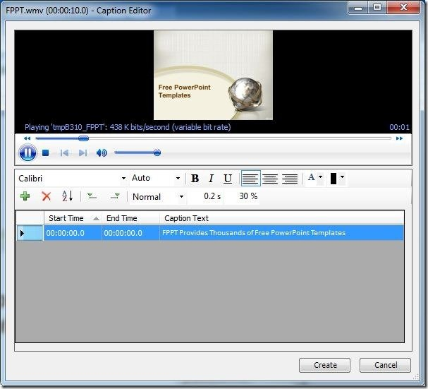 Add Subtitles To Video And Audio Files in PowerPoint With