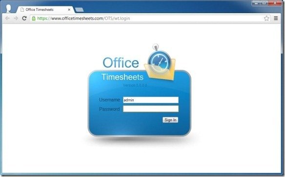 Login to Office Timesheets