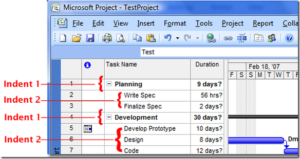 msp_indentlevels the server version of office timesheets