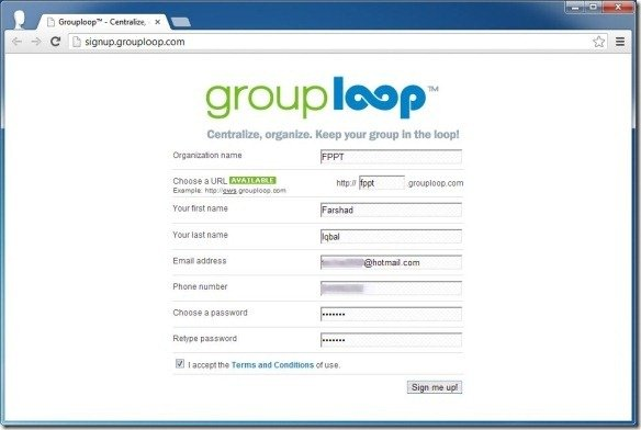 Sign Up For GroupLoop