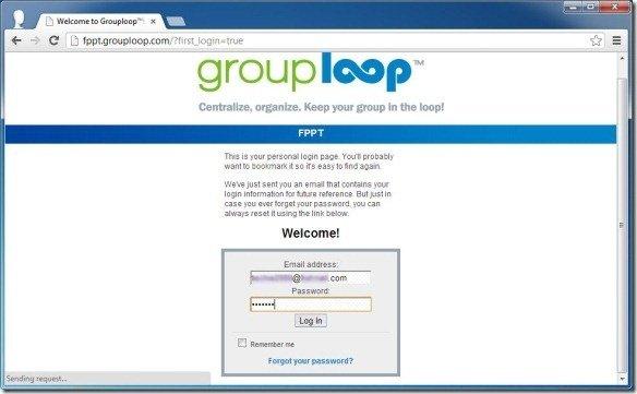 Welcome to Grouploop log in to continue