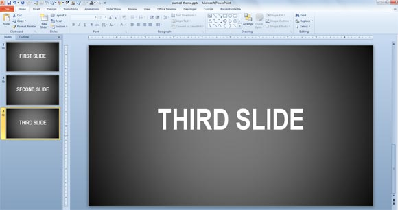 animated text effect entrance slide template powerpoint