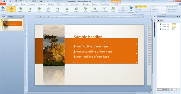 How to Animate Text in the PowerPoint Templates