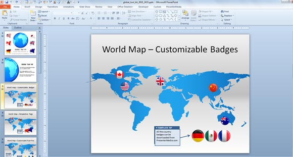 badge powerpoint