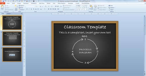 Free Educational Powerpoint Theme For Presentations In The Classroom