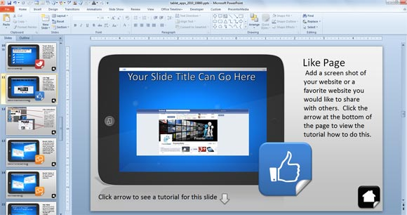 using interactive powerpoint presentations with tablet