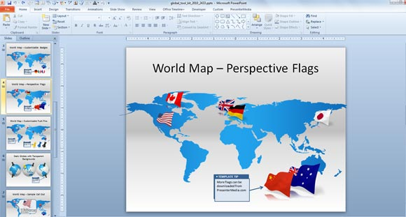 Make awesome global presentations with global powerpoint template animated global powerpoint template gumiabroncs Images