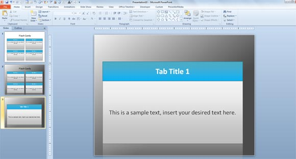 Flash Card Template For Powerpoint