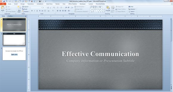 Elegant  Free Gray Powerpoint Template For Widescreen Presentations