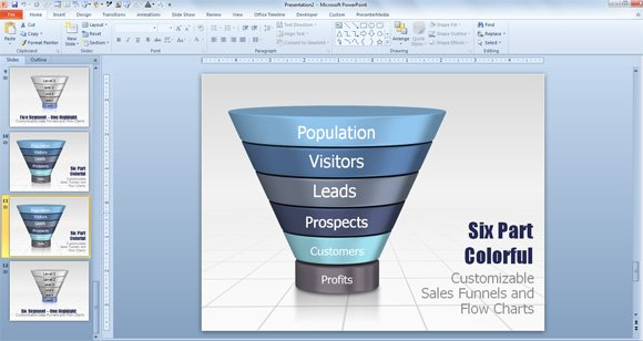 Create a funnel diagram in powerpoint using smartart funnel powerpoint template for presentations ccuart