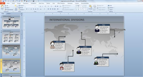 animated powerpoint chart - Free Organizational Chart Template For Mac