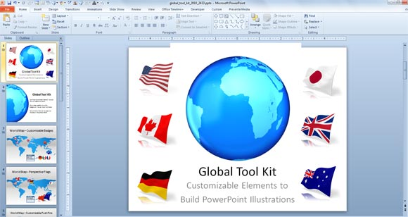 Make awesome global presentations with global powerpoint template global powerpoint toneelgroepblik Choice Image