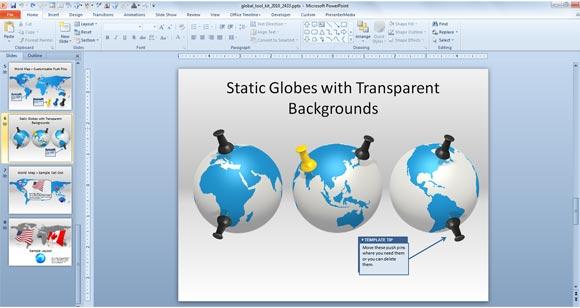 Globe Powerpoint Templateg Fppt
