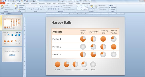 Harvey Balls PPT template