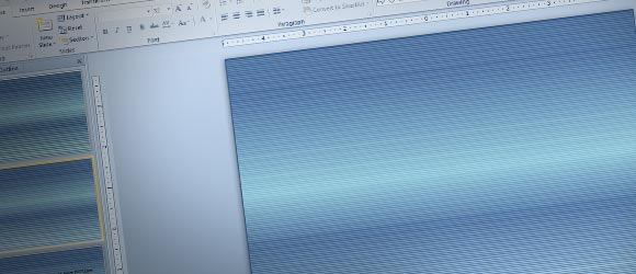 How to Make a Scanlines Template using Textures in PowerPoint 2010