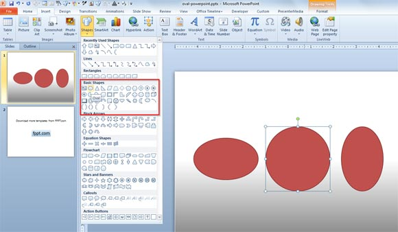Circle or Oval shapes powerpoint