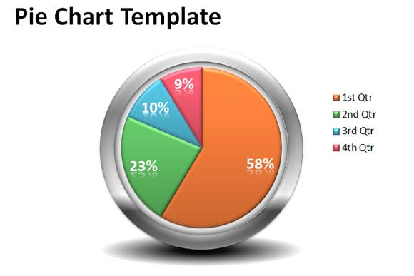 Free Creative Pie Chart Template For Powerpoint Presentations