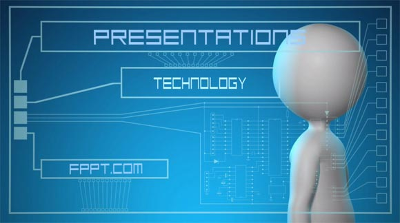 Animated futuristic powerpoint template best animated technology powerpoint templates toneelgroepblik Images