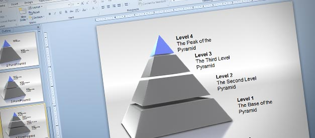 3d pyramid powerpoint templates toolkit, Powerpoint templates
