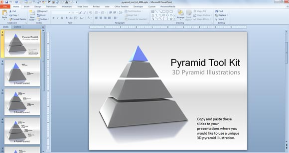 3d pyramid powerpoint templates toolkit