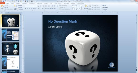 awesome questions & answers powerpoint templates, Modern powerpoint