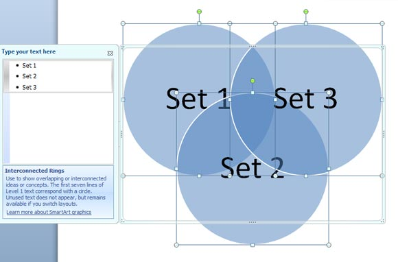 To create a venn diagram in powerpoint 2010 how to create a venn diagram in powerpoint 2010 ccuart Choice Image