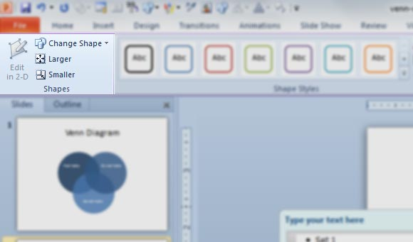 How to create a venn diagram in powerpoint 2010 ccuart Image collections