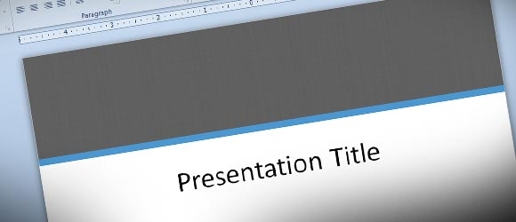 Formal PowerPoint Template with Texture Fill