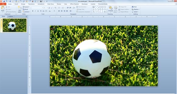 Free soccer ball photo for powerpoint soccer powerpoint photo download toneelgroepblik Choice Image
