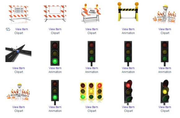 Traffic Light Symbols For Powerpoint Presentations