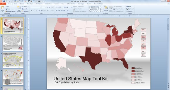 Us Map For Powerpoint Presentations - Us-map-images-free