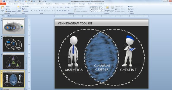 Designing A Venn Diagram In Powerpoint Using Shapes